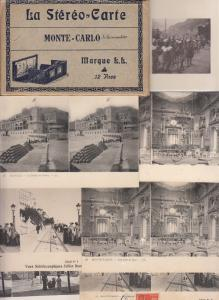 Lot 27 early stereo views all MONACO Casino Monte Carlo stereographic views