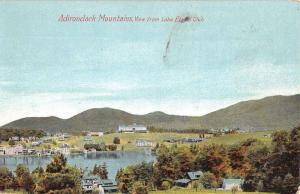 Adirondack Mountains New York Lake Placid Club View Antique Postcard K20026