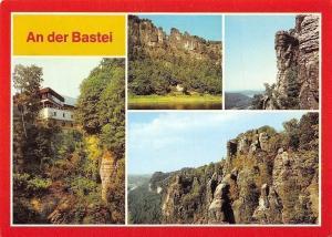 An der Bastei, Berghotel Bastei Basteifelsen mit Bruecke, Basteifelsen