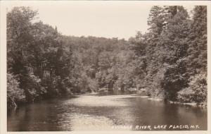 New York Lake Placid Ausable River Real Photo