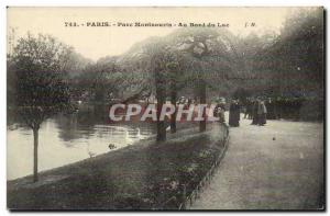 Paris - 14 - Montsouris Park - the edges of Lake Old Postcard