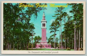 White Springs Florida~Stephen Foster Memorial Campanile~Vintage Postcard
