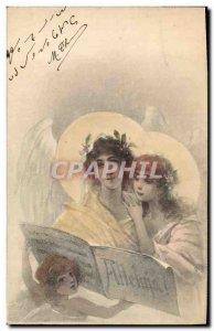 Old Postcard Fantasy Illustrator Women Angel