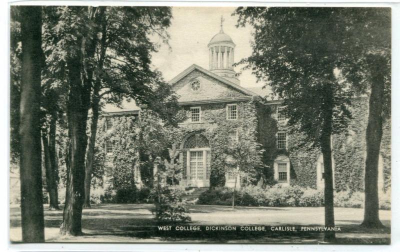 West College Dickinson College Carlisle Pennsylvania postcard