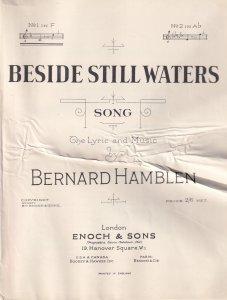 Beside Still Waters Bernard Hamblen Olde Sheet Music