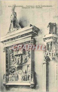 Old Postcard Nevers Interior Chapel Cathedral