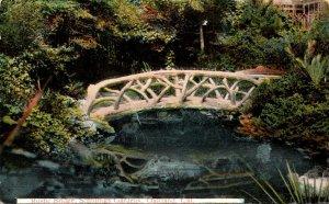 California San Francisco Schillings Gardens Rustic Bridge 1922