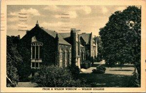 Chambersburg Pennsylvania~ Wilson College~Black White~1953 Postcard