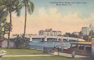 Florida Miami Beach Forty First Street Bridge Over Indian Creek 1951