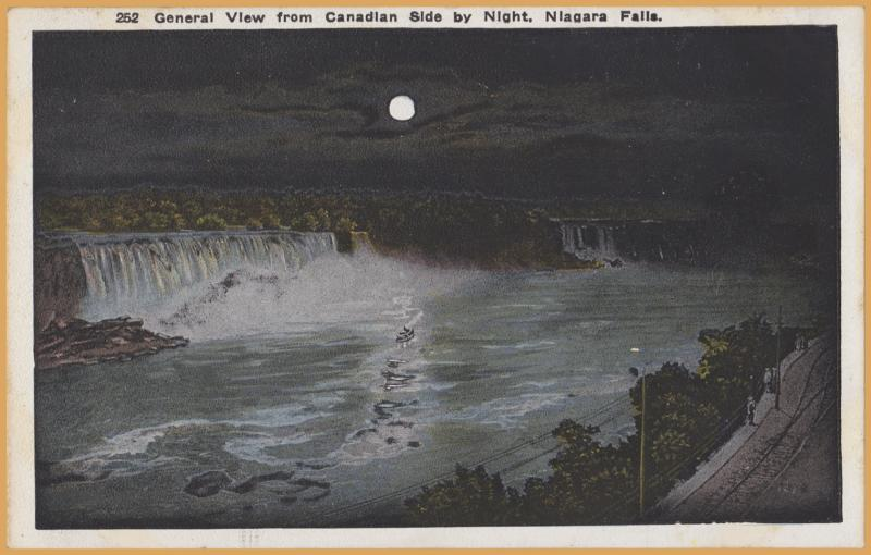 Niagara Falls, N.Y., General View from the Canadian Side by night