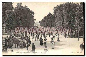 Postcard Old Saint Cloud Allee Lower Park