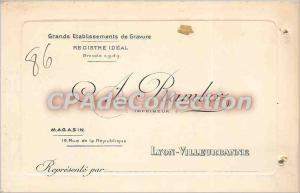 Postcard Old Ramboz printer Lyon Villeurbanne