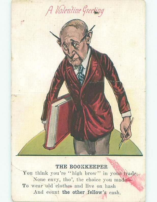 Pre-Linen valentine BOOKKEEPER - ACCOUNTANT SHOWN - ACCOUNTING INTEREST W7376