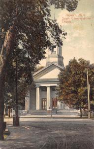 Ipswich Massachusetts~South Congregational Church~Rutted Dirt Road Corner~1908