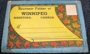 Canada Souvenir folder Winnipeg Manitoba - unused