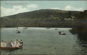 East Windham NY Boating Silver Lake c1910 Postcard
