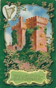 St Patrick's Day Greetings - Castle in Dear Old Ireland - pm 1911 - DB