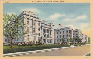Texas Dallas Baylor Memorial Hospital 1943 Curteich