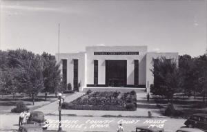 Real Photo Republic County Court House Belleville Kansas