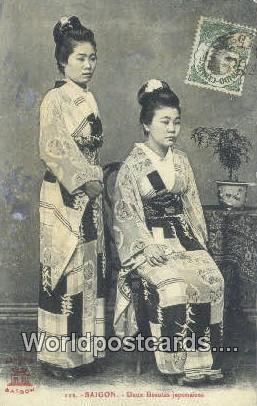 Vietnam, Viet Nam,  Nhân Vật Saigon Deux Beautes japonaises