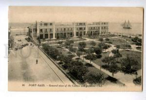 158412 Egypt PORT-SAID view CASINO Palace HOTEL Gardens OLD PC