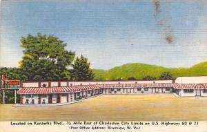 Riverview West Virginia~Charleston~Ace Hotel Court~Route 60 Motel~1950 Linen PC