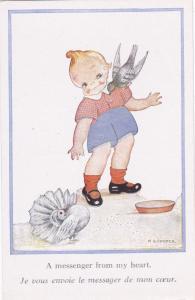 Child & birds by M.B. Cooper, 20-40s