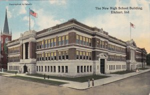 ELKHART, Indiana, 1900-1910's; The New High School Building