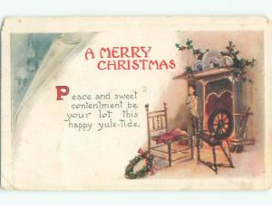 Divided-Back CHRISTMAS SCENE Great Postcard W8977