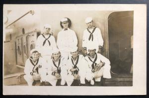 Mint USA Real Picture Postcard RPPC US Navy Marines Corps 1923