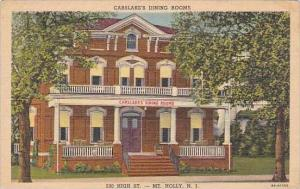 New Jersey Mt Holly Carslake's Dining Rooms 1953