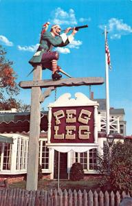 Rockport Massachusetts Peg Legs Restaurant Street View Vintage Postcard K90909