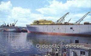 US Naval Ship Yard, Bremerton, Washington, WA USA Military Battleship Postcar...