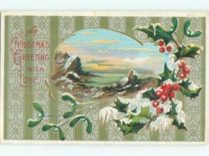 Divided-Back CHRISTMAS SCENE Great Postcard W8714