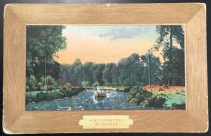 """Postcard Used Creased """"A Bit Of Nature by Sander"""" Flag/Boat MO LB"""