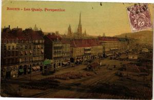 CPA ROUEN-Les Quais-Perspective (234658)