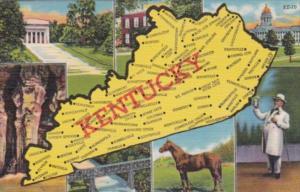 Map Of Kentucky Curteich