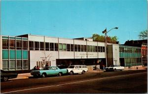 Wallingford Connecticut~Municipal Building~1960s Cars~Station Wagon~Postcard
