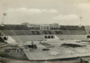 DDR Leipzig 1959 Sport Stadium Festivity Germany Stadion der Hunderttausend