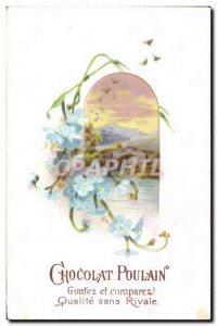 Chromo Chocolat Poulain Flowers
