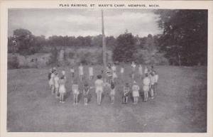 Michigan Memphis Flag Raising At St Mary's Camp
