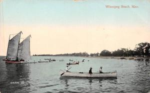 Canada Man, Winnipeg Beach, gondola, boats