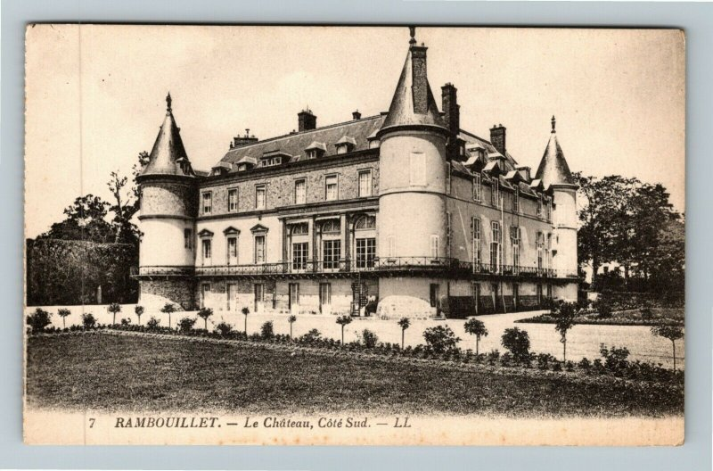 Rambouillet France Le Chateau Cote Sud Vintage Postcard