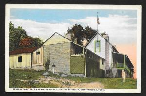 General Walthalls HQ Lookout Mountain Chattanooga Tennessee Unused c1920s