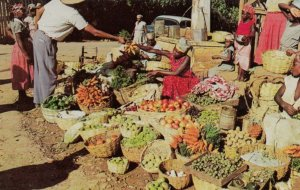 KENSCOFF , Haiti , 1950-60s ; Vegetables for sale