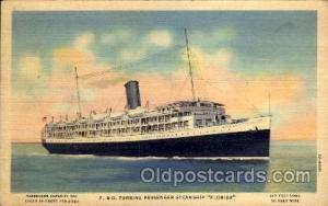 P.& O. Turbine Passenger Steamship Florida, Steamer Ship Ships Postcard Postc...