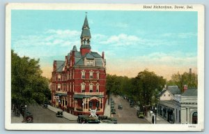 Postcard DE Dover Delaware Hotel Richardson c1930s Street Views X5