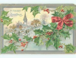 Divided-Back CHRISTMAS SCENE Great Postcard W9150