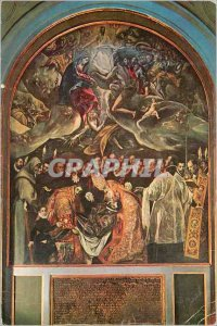 Toledo Modern Postcard The Burial of Count Orgaz-Greco