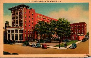 South Carolina Spartanburg Hotel Franklin 1941